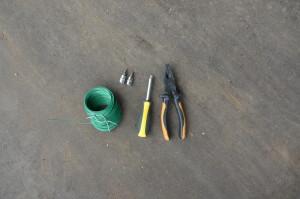 Инструменты для установки защитной сетки