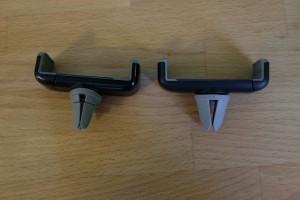 держатели для телефона на дефлектор с цельной резинкой и раздельной.